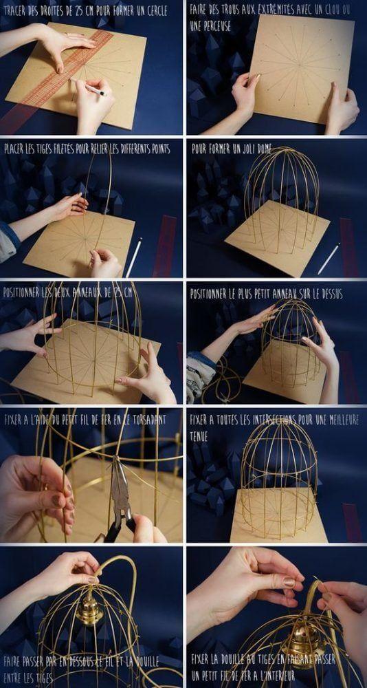 Como hacer una lámpara con aspecto de jaula