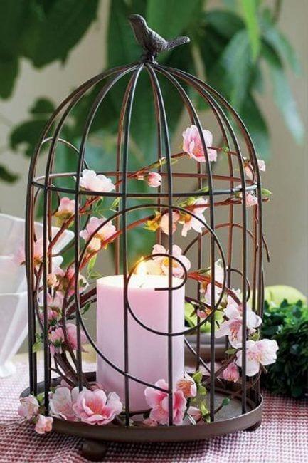 decorar con jaulas y velas