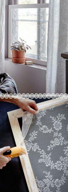 Decorar ventana con una mosquitera