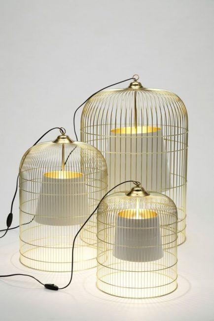 Lámpara de techo con jaula