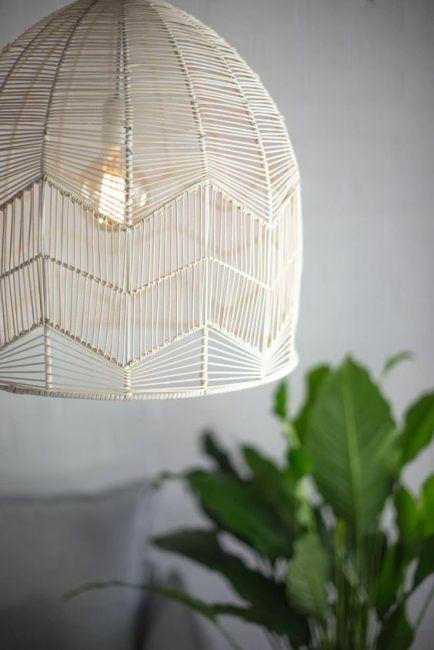 Lámparas de mimbre de techo