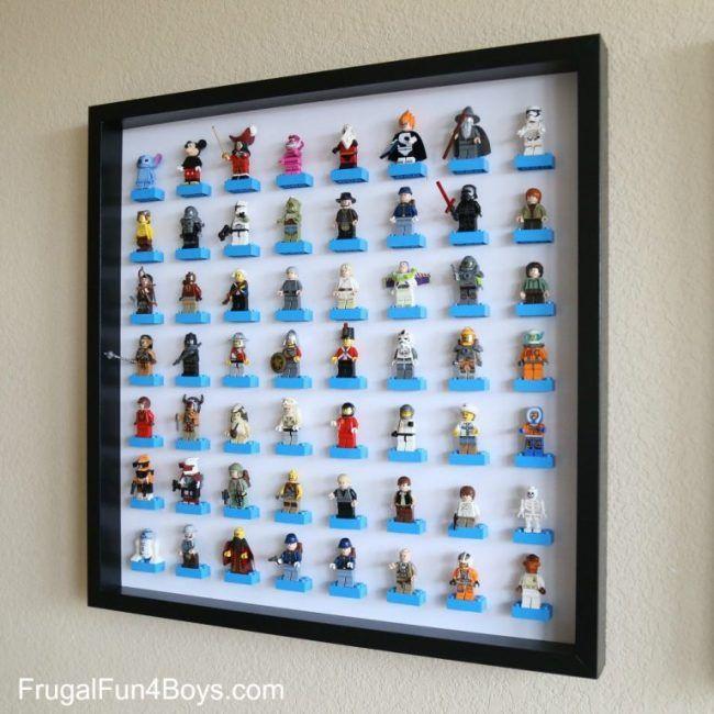Bonita forma de organizar juguetes de Lego