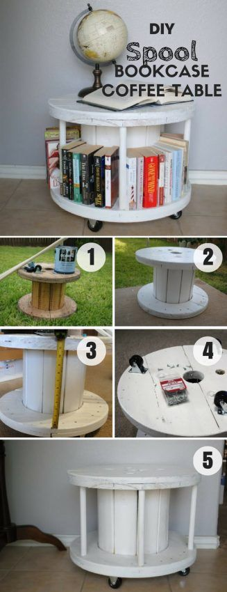 DIY hacer mesa con bobina de cable