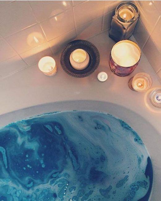Decoración del baño con velas