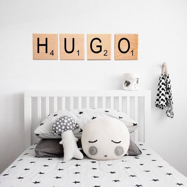 Decorar con letras de Scrabble