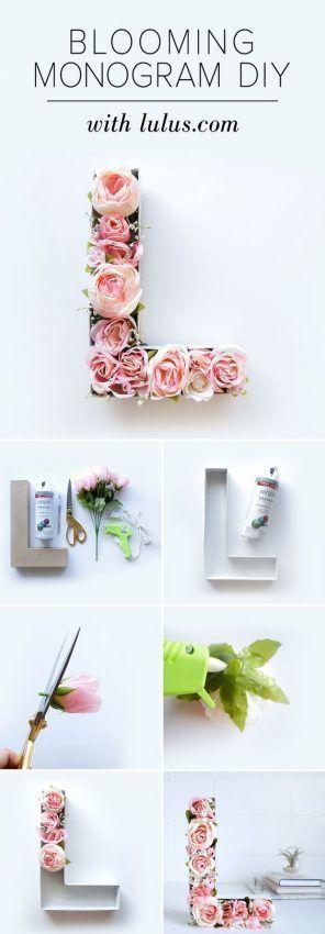 Decorar con letras de flores