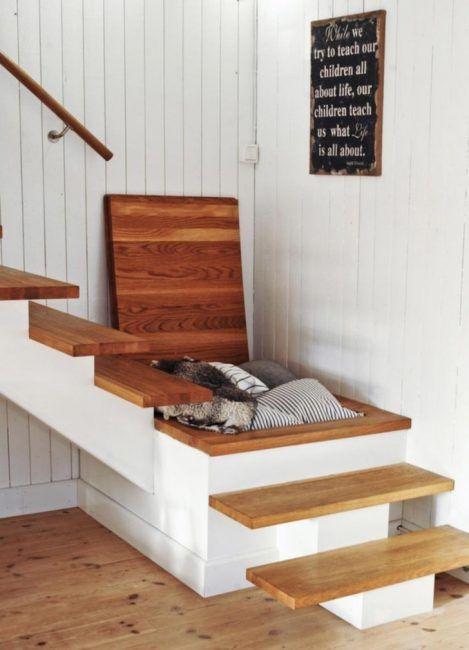 Ganar espacio de almacenaje en la escalera