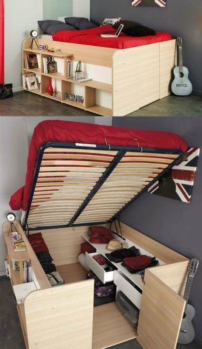 Gran espacio de almacenaje bajo la cama