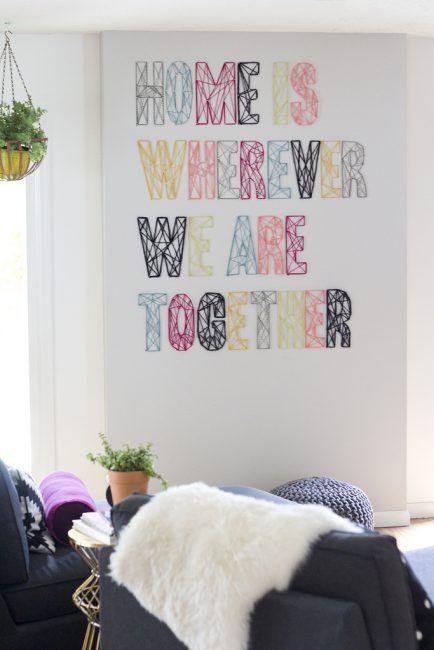 Hacer letras con hilo y clavos