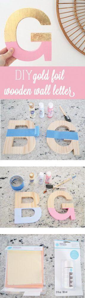 Hacer letras de madera decorativas