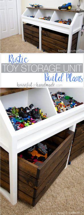 Ideas para guardar juguetes en muebles