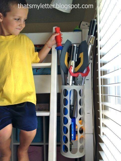 Original forma de almacenaje de juguetes