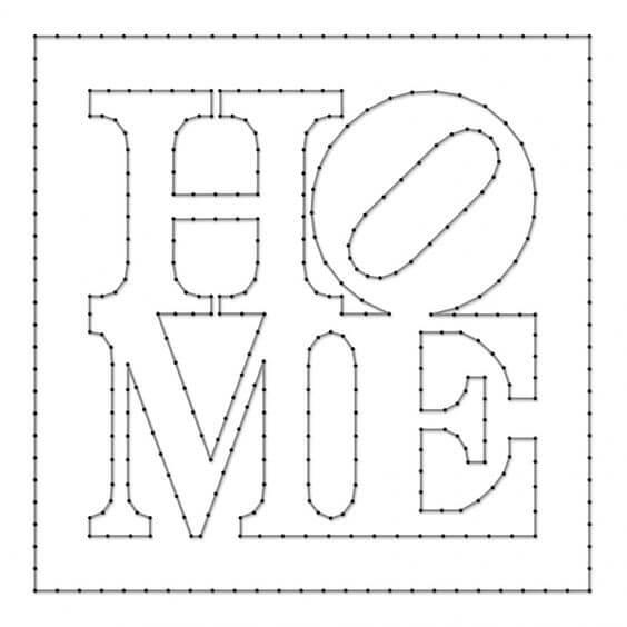 Cómo hacer cuadros con hilos y clavos 【+ Plantillas】 | Hilorama ...