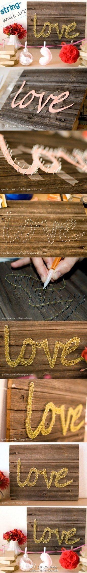 Cómo hacer cuadros con hilos y clavos