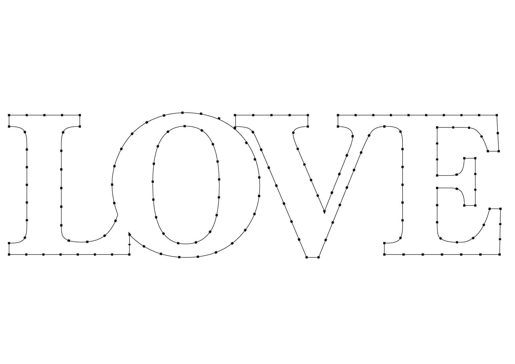 Patrón LOVE para hilorama
