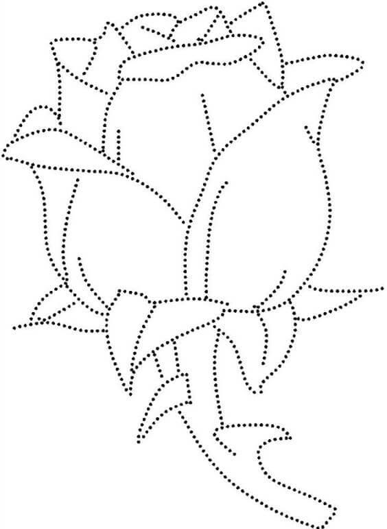 Plantilla rosa string art