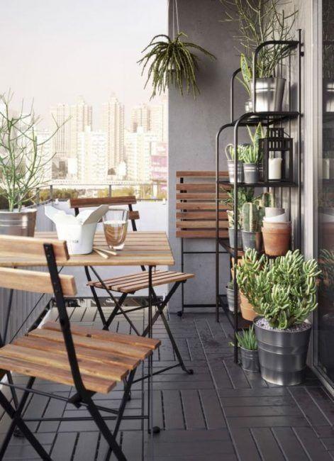 Bonita decoración de una terraza