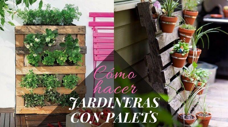 Cómo hacer jardineras con palets