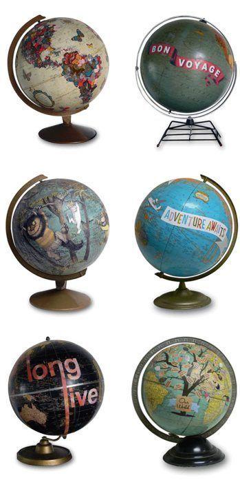 Diseños bonitos de globos terráqueos