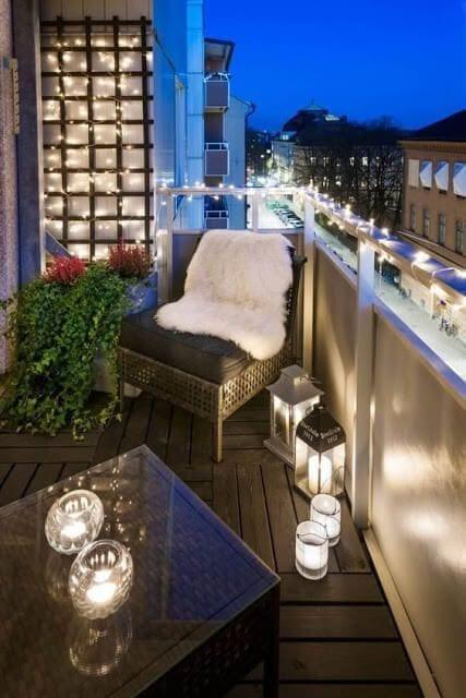 Iluminar un balcón