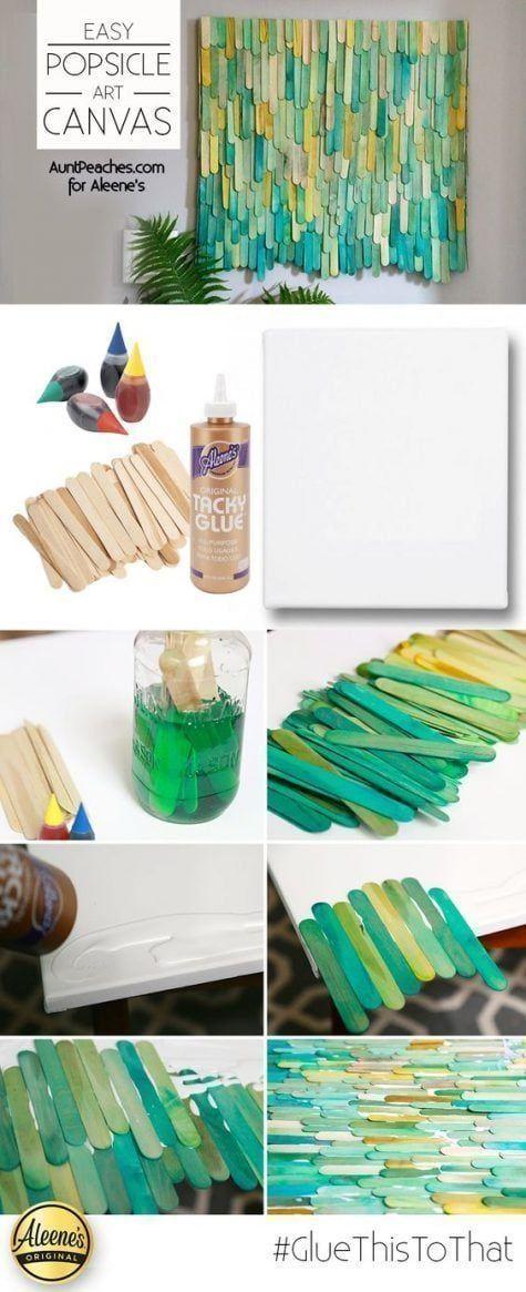 Manualidades con palitos de helado y canvas