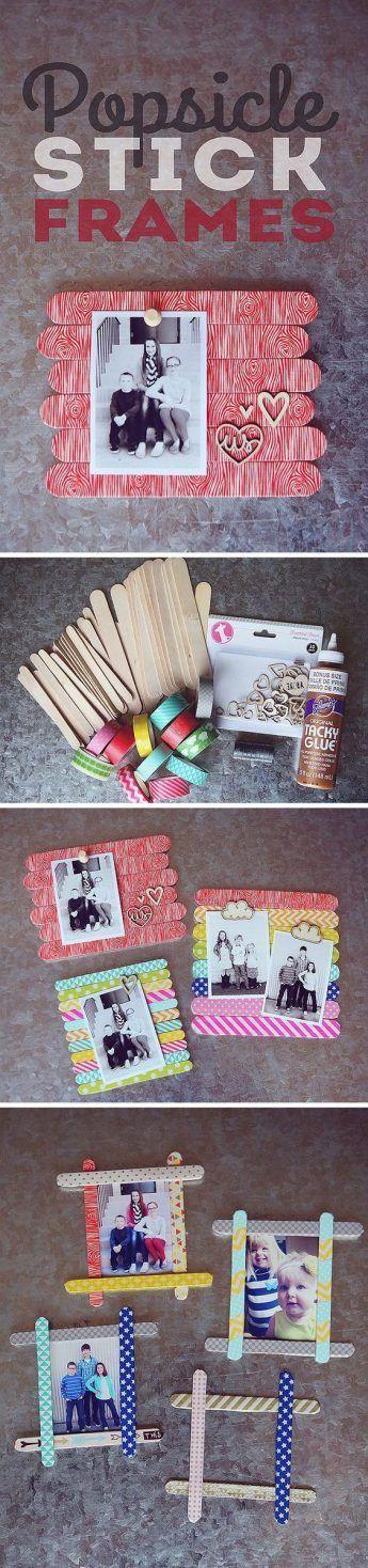Manualidades para fotos con palitos de helado