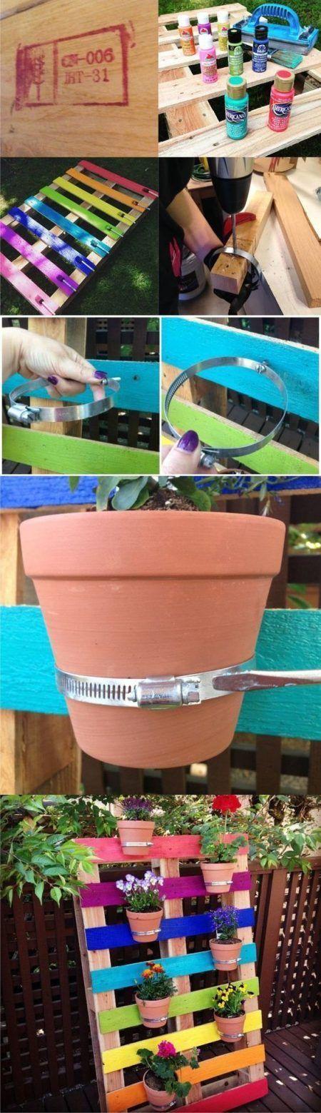 C mo hacer jardineras con palets la cartera rota - Macetas para colgar ...