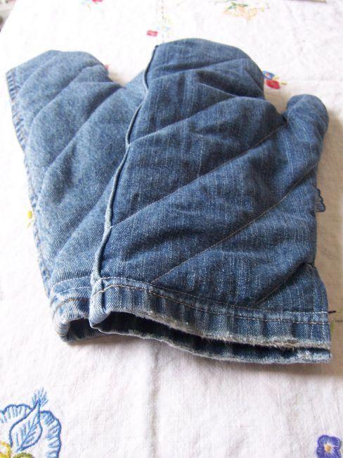 Reciclar unos vaqueros para hacer unos guantes