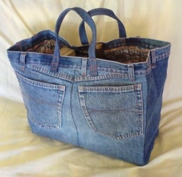 Reciclar vaqueros para hacer un bolso