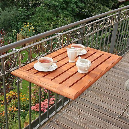 Una tabla para ganar espacio en la terraza