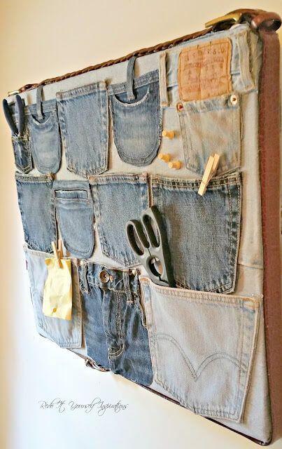 Organizador con bolsillos de pantalones