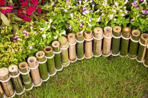Cercos de caña para jardín