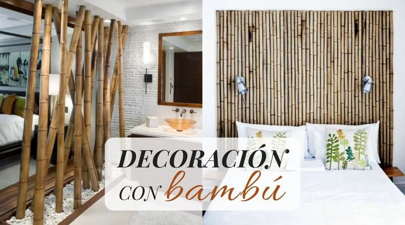 Decoración con bambú