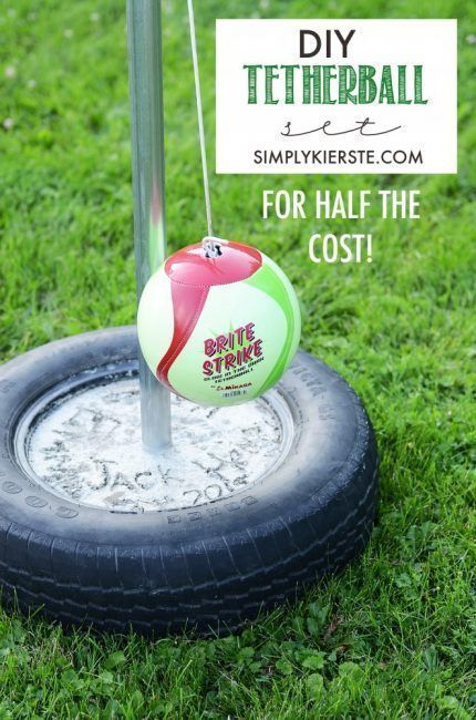 Juego de pelota usando un neumático