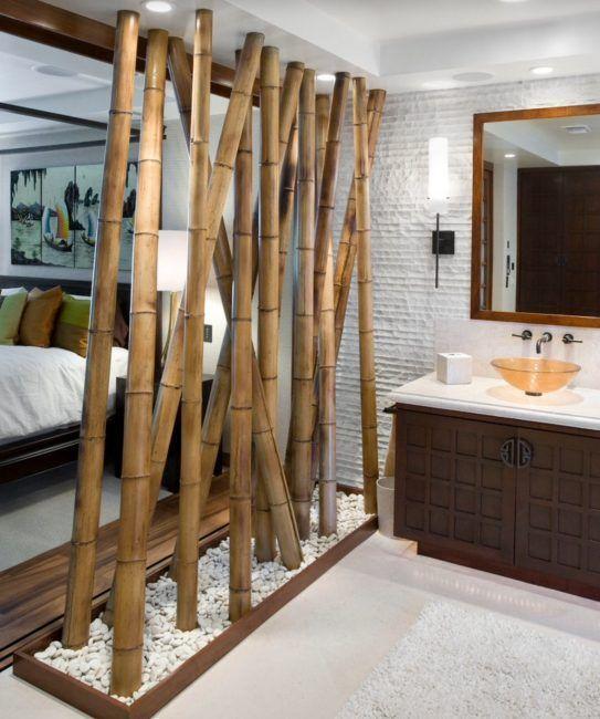 Separar ambientes con bambú