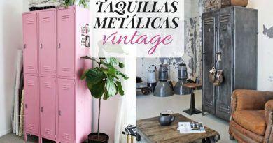 Taquillas metálicas vintage para conseguir una decoración industrial