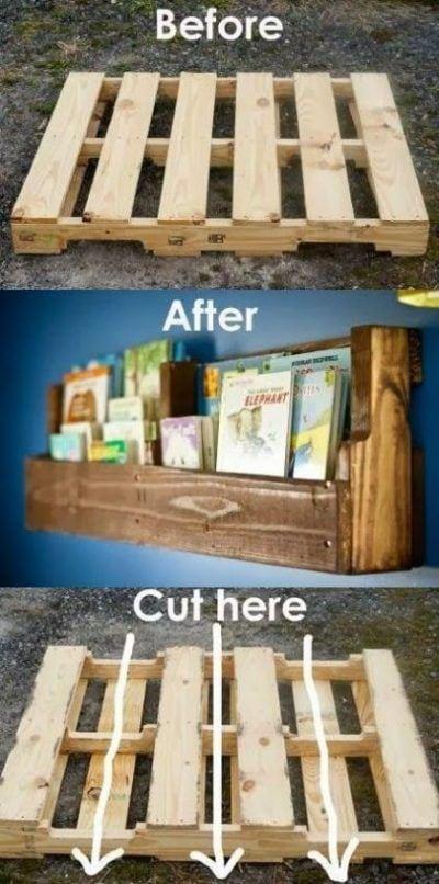 Hacer estantes con un palet