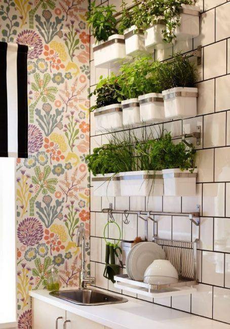 Jard n vertical interior 10 ejemplos para decorar tu casa for Estructura para jardin vertical