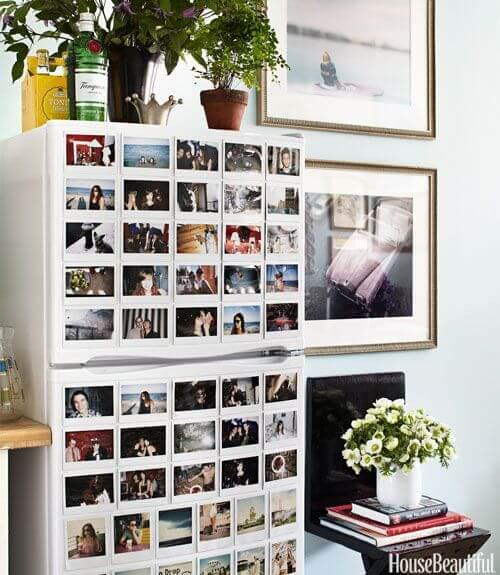 Decorar la nevera con fotos