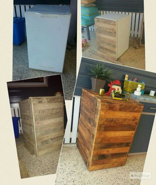 Ideas con madera para decorar la nevera