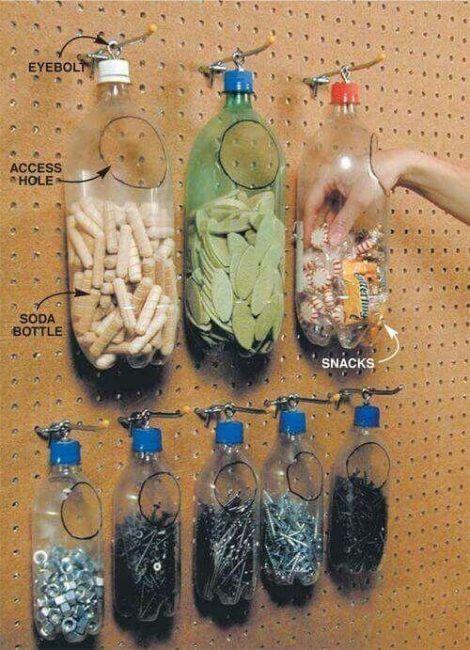 Cómo aprovechar las botellas de plástico