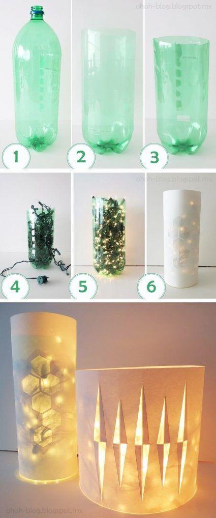 Convertir botella de plástico en una lámpara
