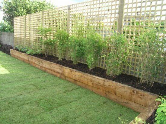 Jardines con traviesas de madera la cartera rota - Traviesas de tren para jardin ...