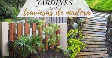 Jardines con traviesas de madera