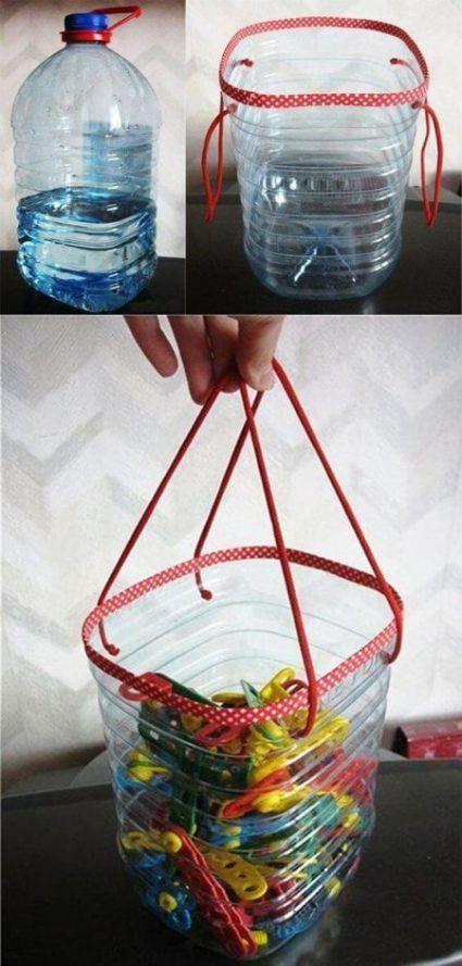 Manualidades con botellas de plástico grandes