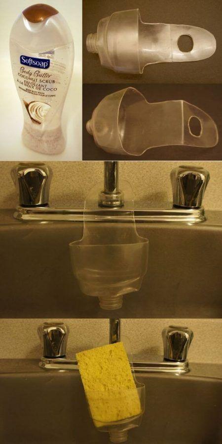 Original forma de guardar el estropajo