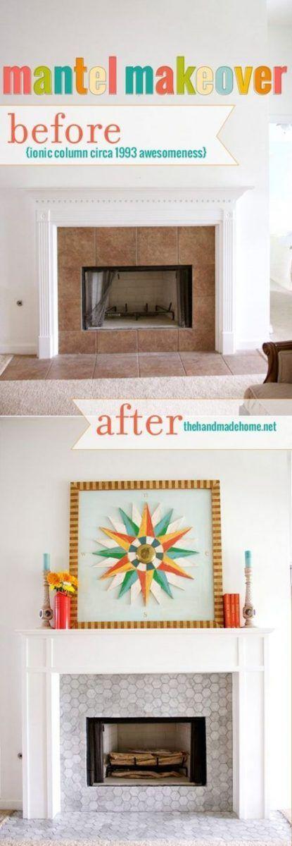 Cómo decorar una chimenea con azulejos