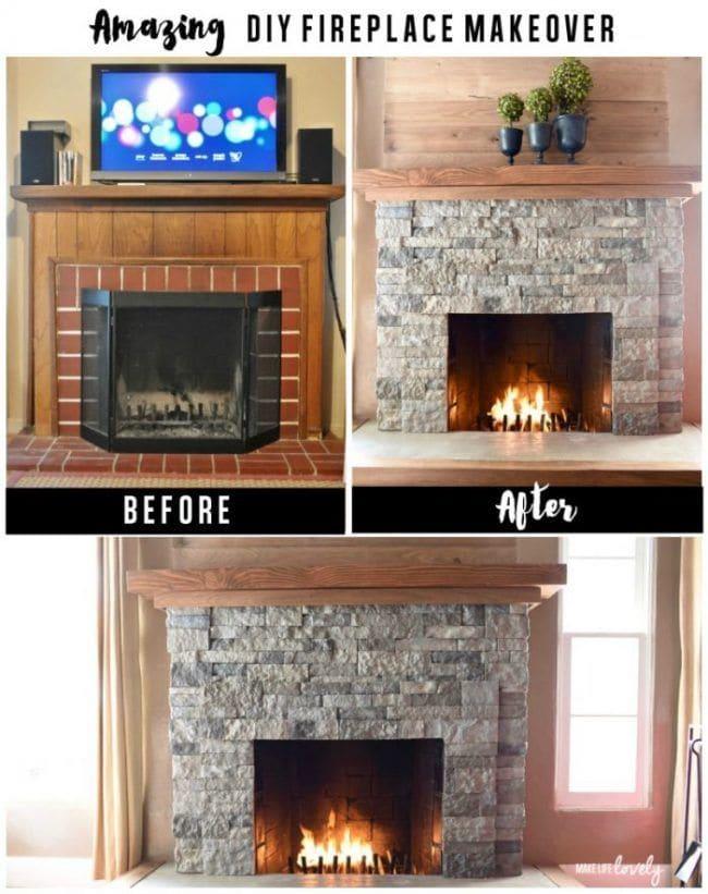 Cómo decorar una chimenea con revestimiento de piedra