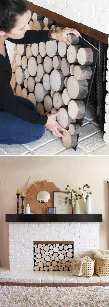 Cómo decorar una chimenea sin uso