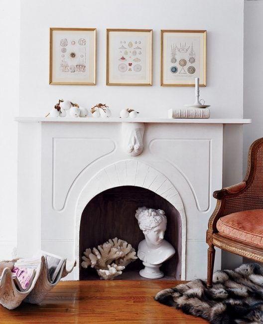 Cómo decorar una chimenea vacía